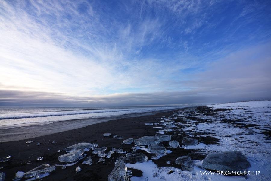 大津海岸の氷