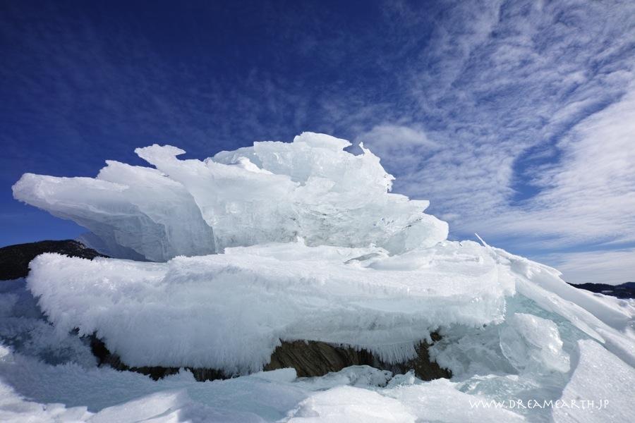 糠平湖のキノコ氷