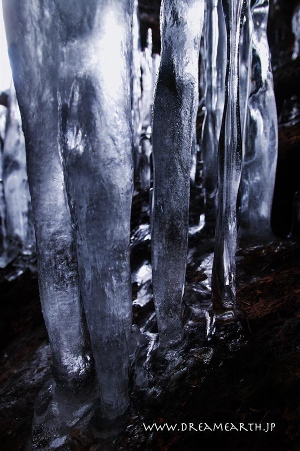 登別,カルルス,氷筍