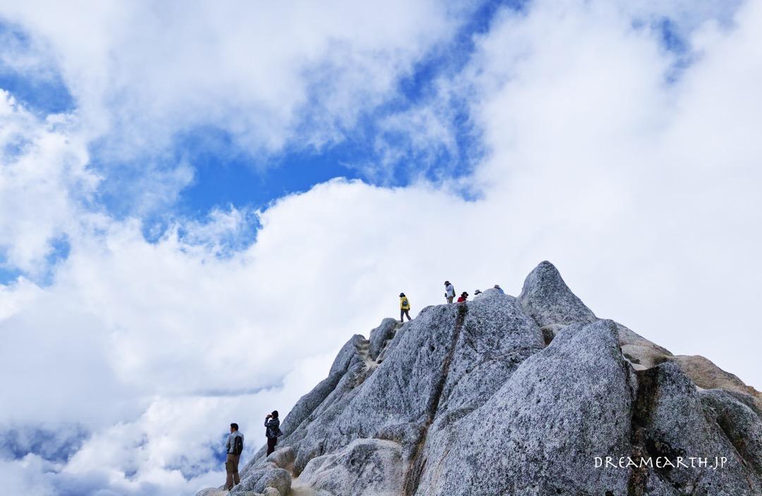 燕岳 コマクサ、雷鳥、そして雲海