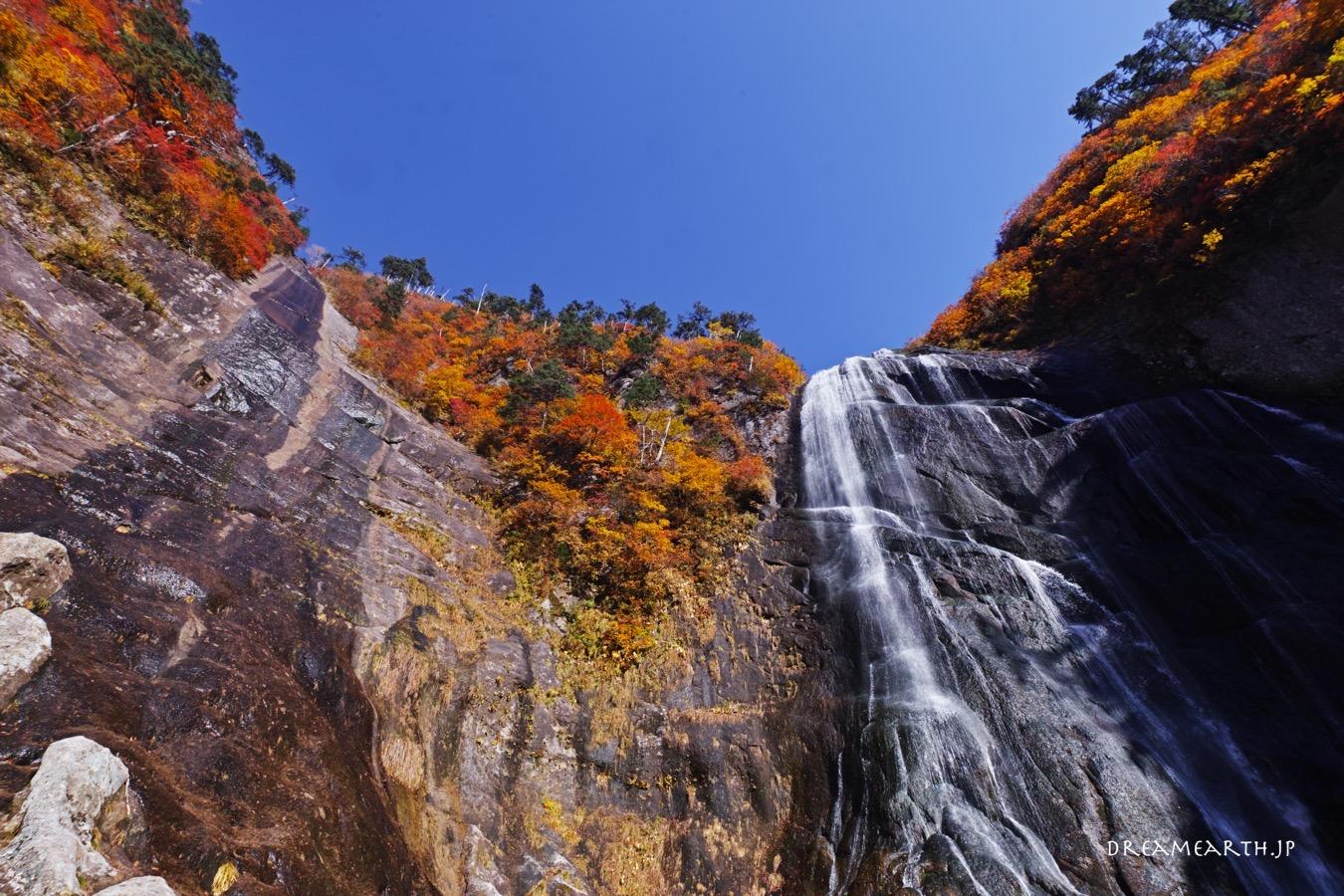 中ノ又渓谷・安の滝の紅葉