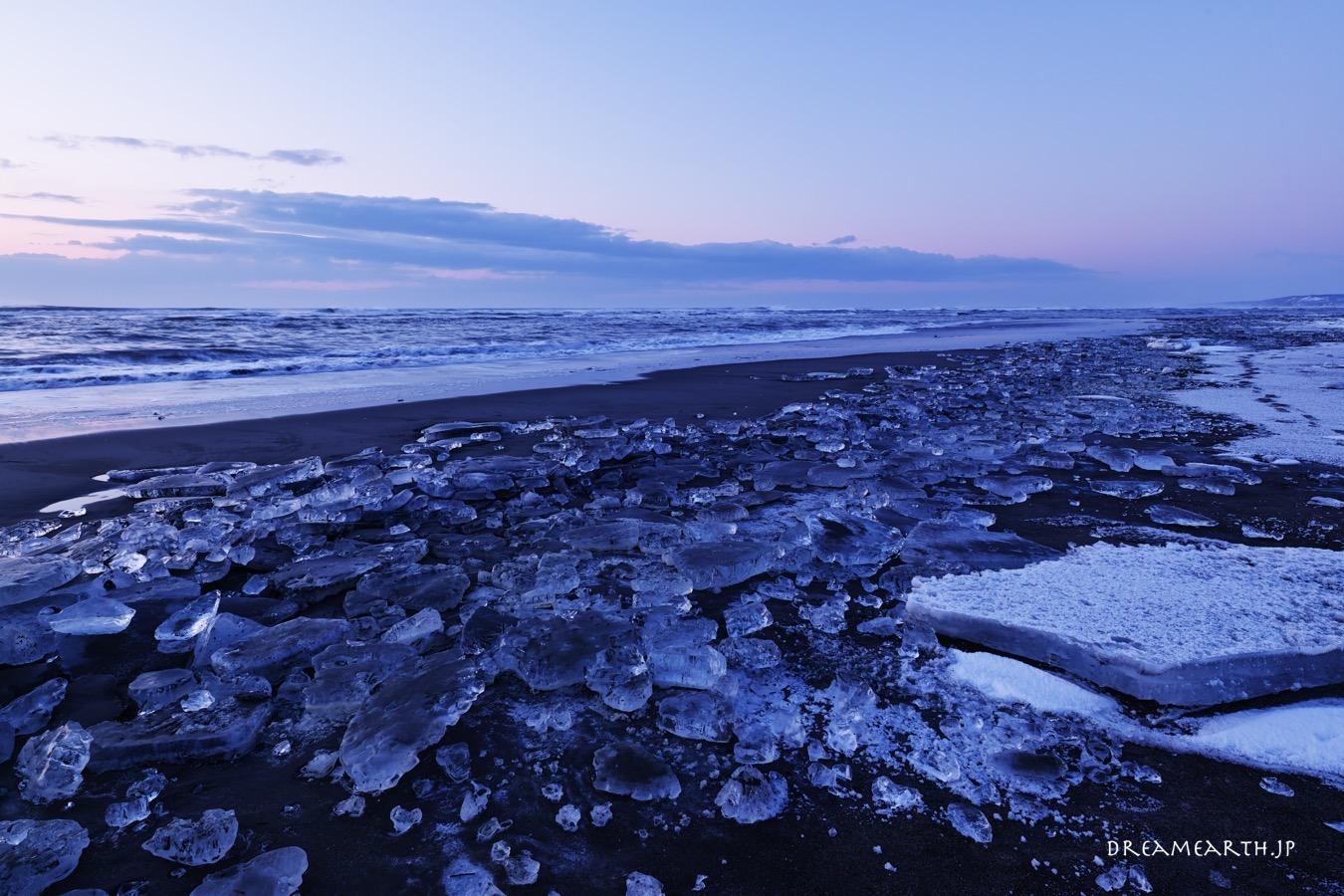 ジュエリーアイス,大津海岸の氷
